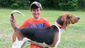 Brody with Gypsy Rose, his Treeing Walker Coonhound