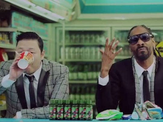 Psy and Snoop Dogg make a surprisingly good team.