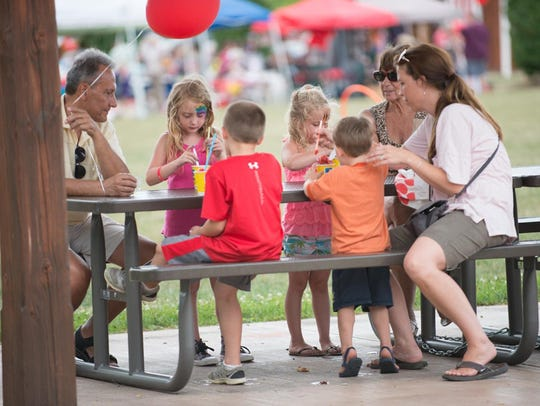 Families came out Sunday to enjoy the Parenting Village