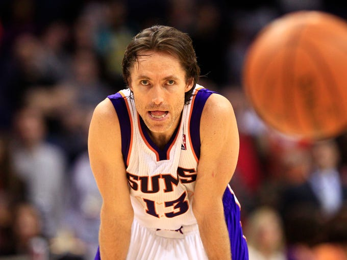 Phoenix Suns Steve Nash reacts during a loss to the