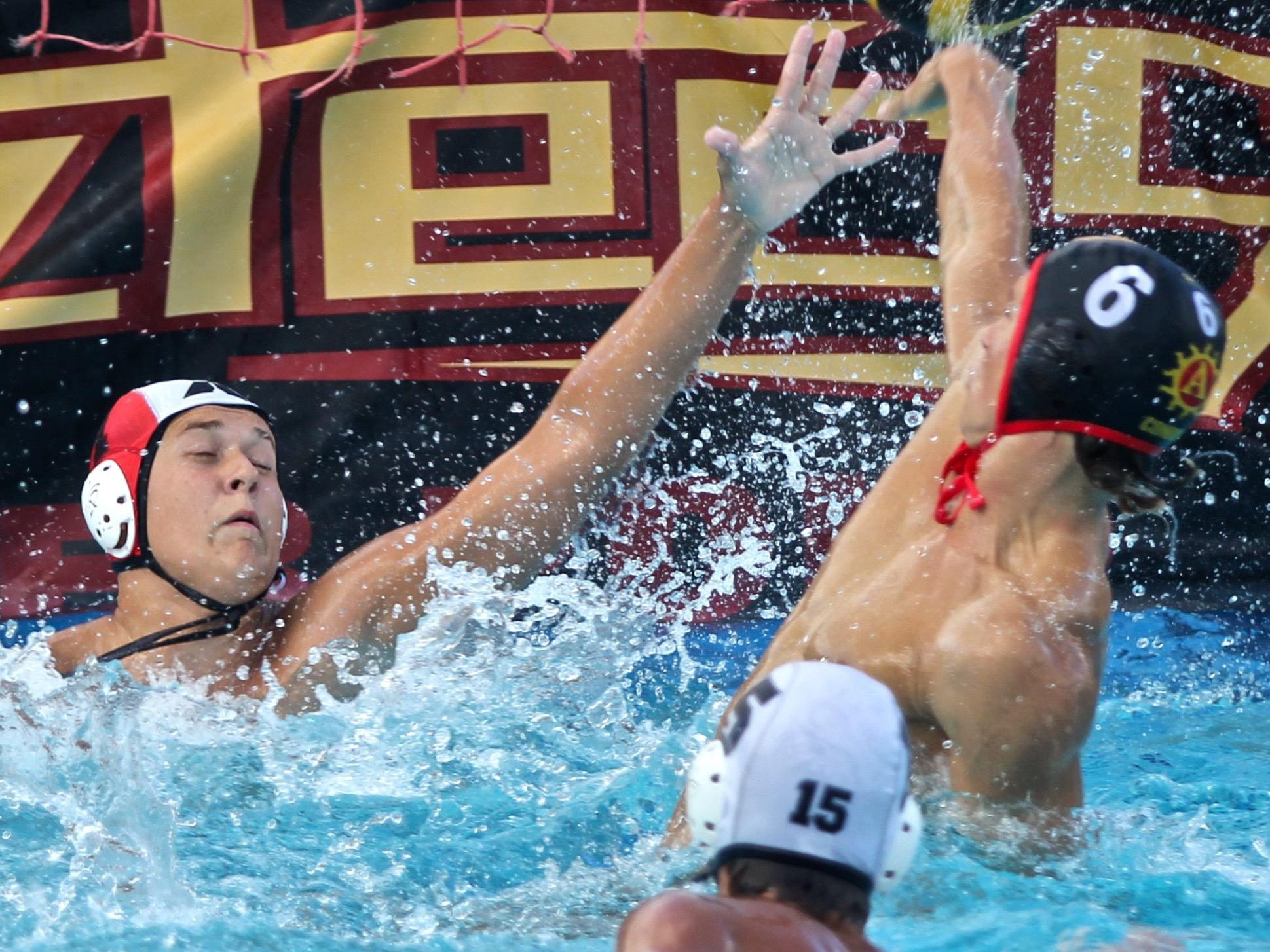 Palm Desert's Mitchell Conrow (6) scores a goal during a home match with Xavier Prep on Tuesday.