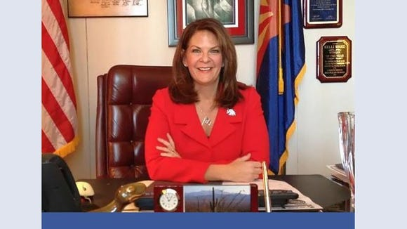 State Sen. Kelli Ward included a photo of herself posing