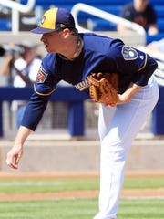 Chase Anderson was the Brewers' best pitcher last season.