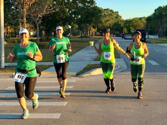 Runners in the first Brew-2-Brew Half Marathon.