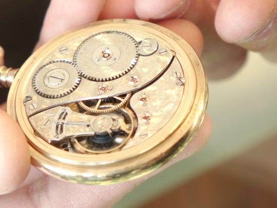 A 100 year old pocket watch, on display at Manhattan