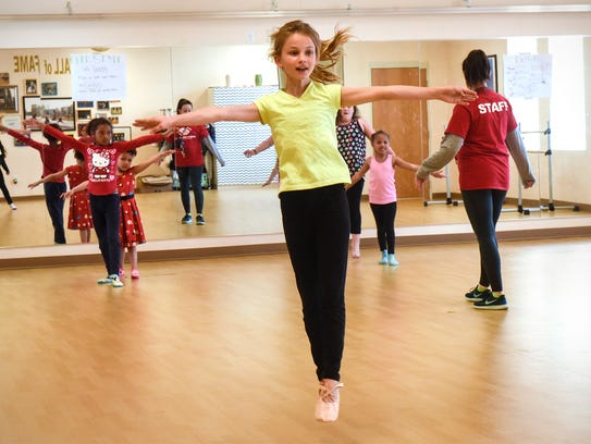 Students rehearse their dance Thursday, May 3, at the