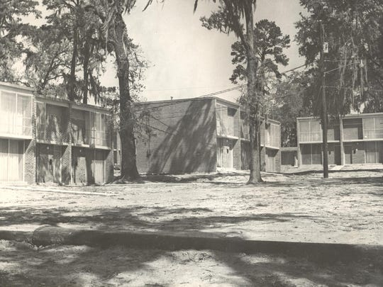 FAMU's now defunct married student housing complex, shown here in 1966 was named for James Polkinghorne, the first FAMU student to join the Army Air Corps during World War II.