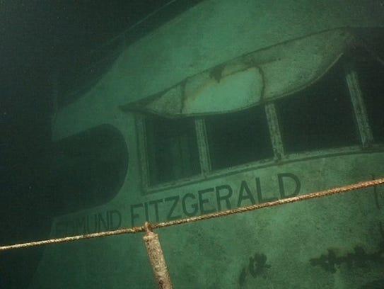 "The SS ""Edmund Fitzgerald"" shipwreck."