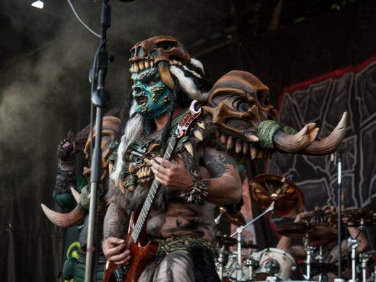 GWAR performs at the Hard Rock Hotel in Las Vegas during the Vans Warped Tour Friday, June 23, 2017.