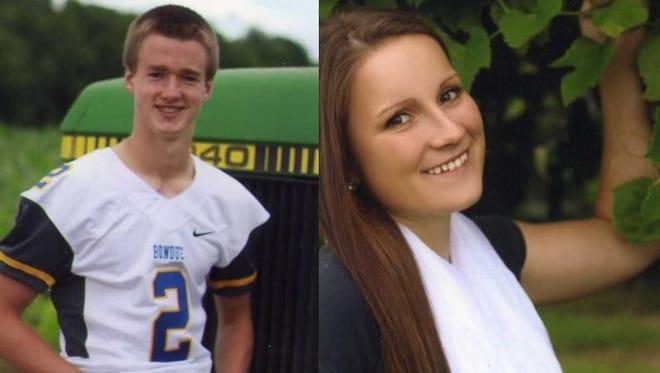 Daniel Tauchen and Deanna Zernicke of Bonduel High School.