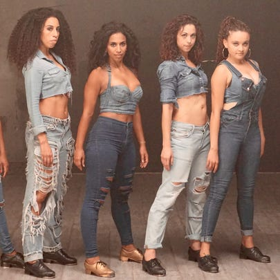 The Los Angeles-based female tap dance group Syncopated
