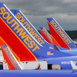 Southwest Airlines jets at Baltimore-Washington International Airport on May 16, 2008.