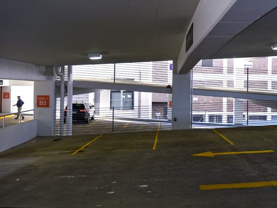 The new River's Edge Convention Center parking ramp is open to the public Monday, Nov. 7, in St. Cloud.