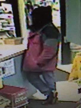 Authorities released this image of a man who robbed Pump N Pak west of Sioux Falls at on Nov. 30. Authorities believe the suspect was Jason Wayne Dunkelberger.