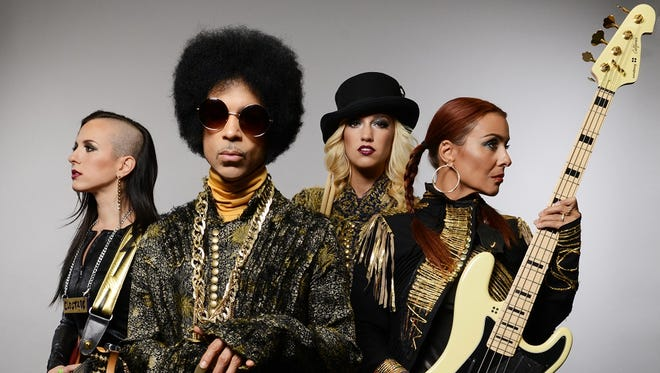 Prince and 3rdEyeGirl, from left: Donna Grantis, Prince, Hannah Ford Welton and Ida Nielsen.