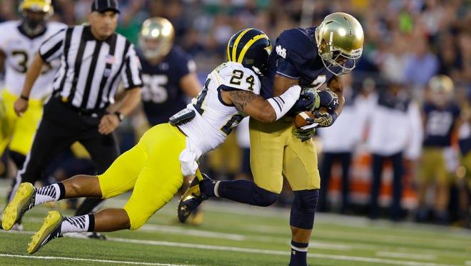 Michigan and Notre Dame last met in 2014.