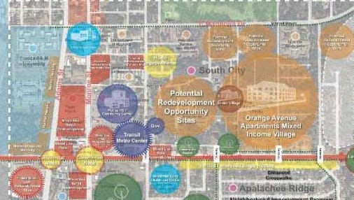 Tallahassee Housing Authority's working master plan of Orange Avenue Apartments redevelopment.