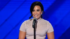 Demi Lovato at the 2016 Democratic National Convention