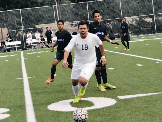 Ruidoso's Jose Enriquez scored for RHS during its home game against Goddard High Aug. 25.
