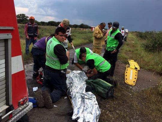 Medios locales de Durango reportaron que algunos pasajeros