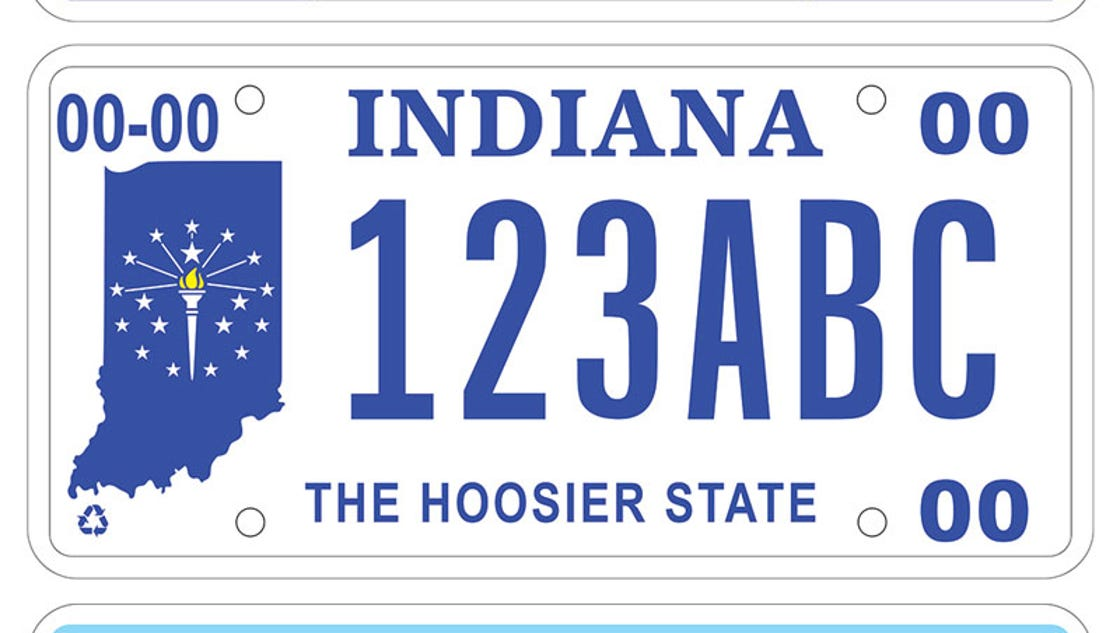 Indiana S New License Plate Design Up For A Vote