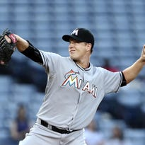 Miami Marlins starting pitcher Chris Narveson is 2-1 since being called up last month.