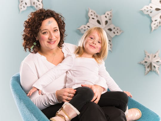 Caroline Hoy Myers and her daughter Lila Myers.