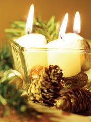 The top three days for residential fires started by candles are Christmas Eve, Christmas Day and New Year's Day.