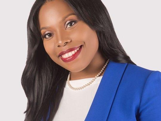 Democrat Katrina Robinson, who is challenging Reginald