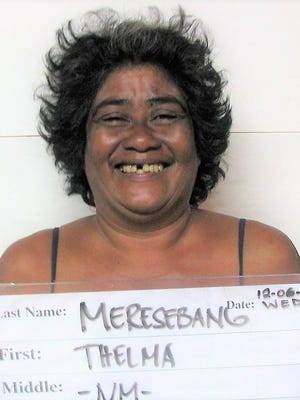 Thelma Meresebang, 49, was charged with two counts of harassment and theft of property as a misdemeanor.