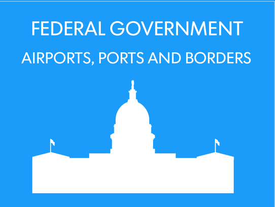 At airports and other ports of entry, federal authorities