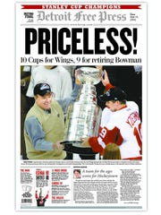 2002, Red Wings win Stanley Cup.,