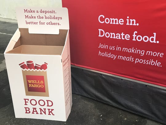 Nonperishable food donations are being accepted at