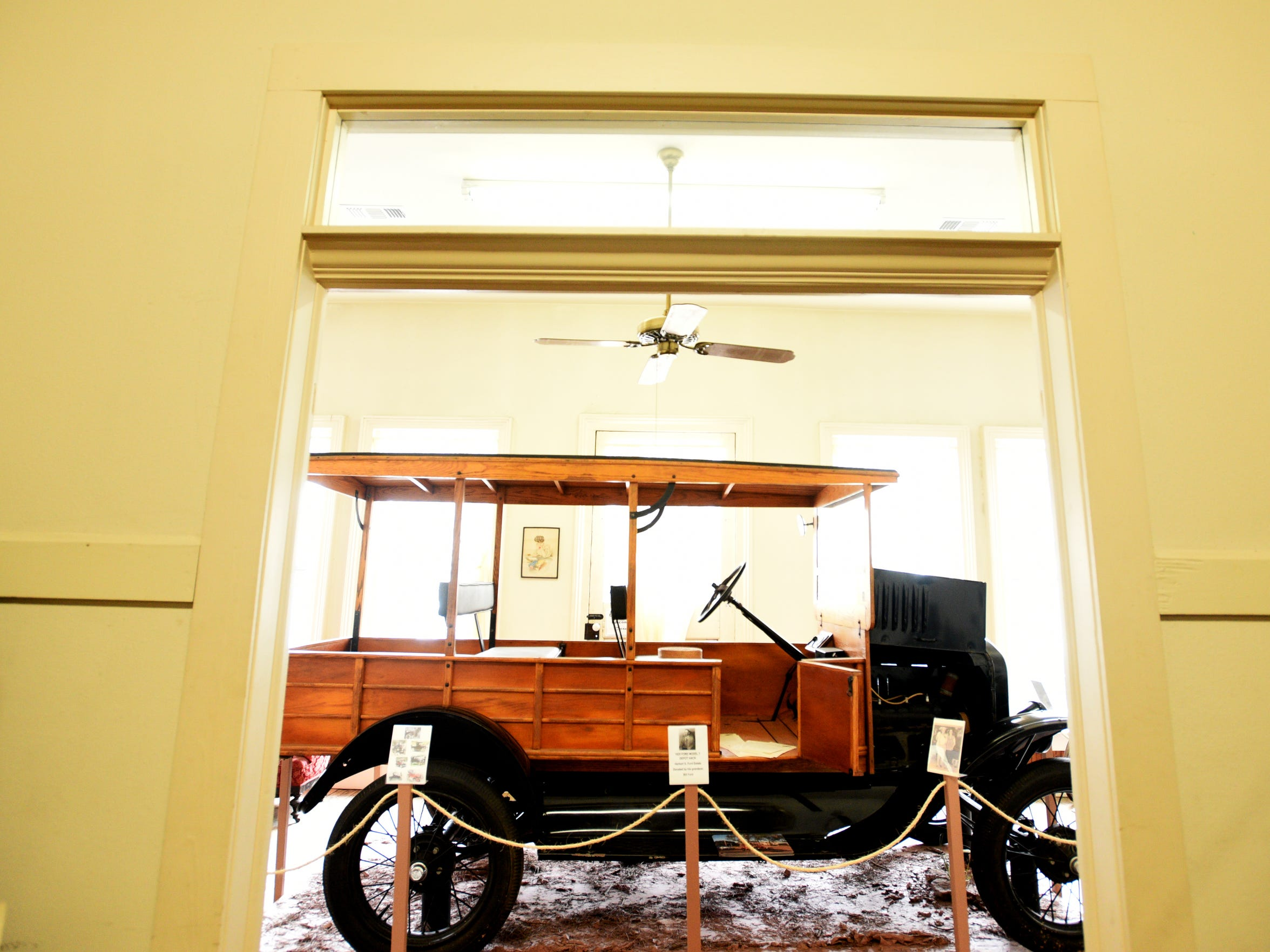 Inside the Herbert S. Ford Memorial Museum in Homer, Louisiana, a museum of local history and culture housed in the former Claiborne Hotel at 519 South Main Street.