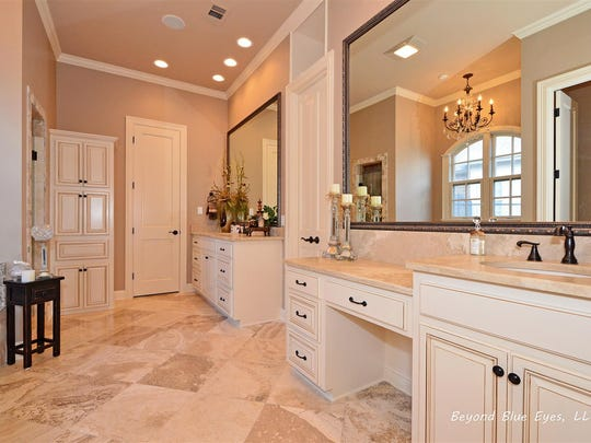 The master bath is very luxurious.