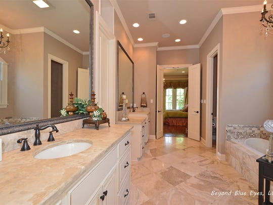 The master bath is extremely spacious.