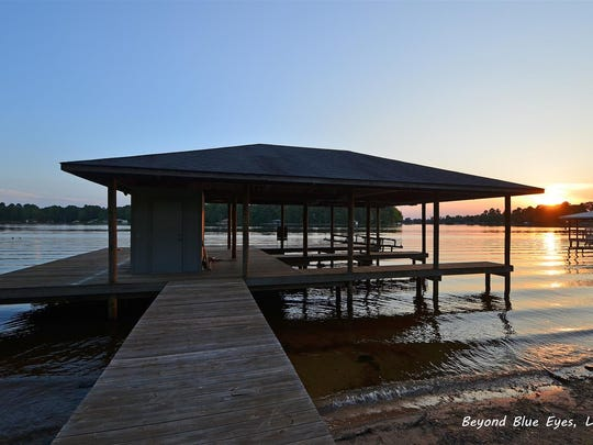 The home is directly on Cypress Lake.