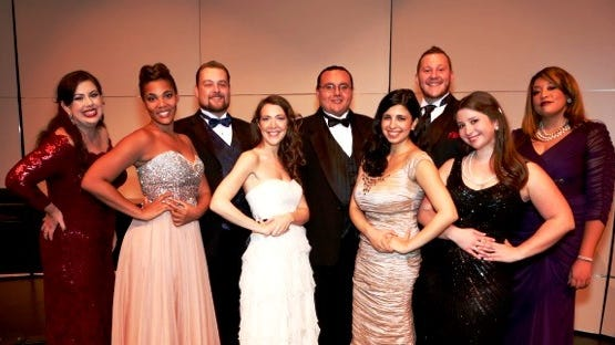 Nine finalists from the Palm Springs Opera Guild's vocal competition.