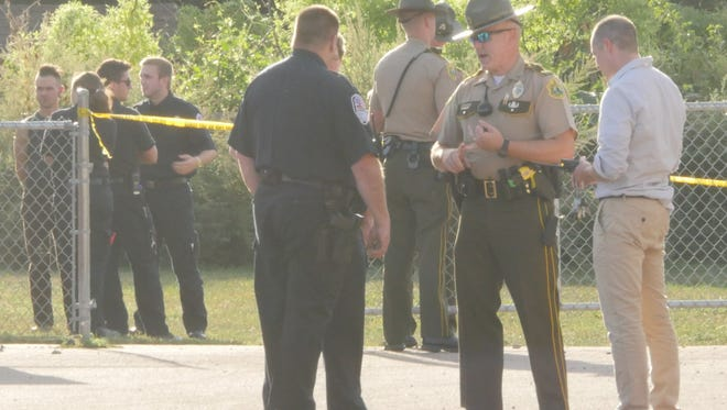 Police investigate an officer-involved shooting Friday evening in Winooski.