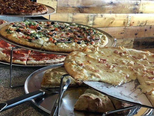 A display of lunch options from Mama Mia's in Des Moines.