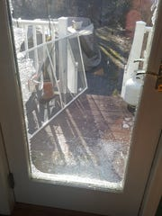 A burglar smashed the first of pane of a double-pane