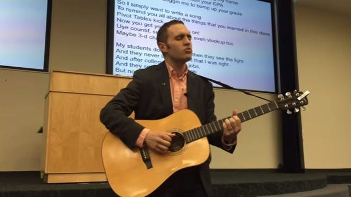 UT-Austin professor parodies Justin Bieber in song about Excel