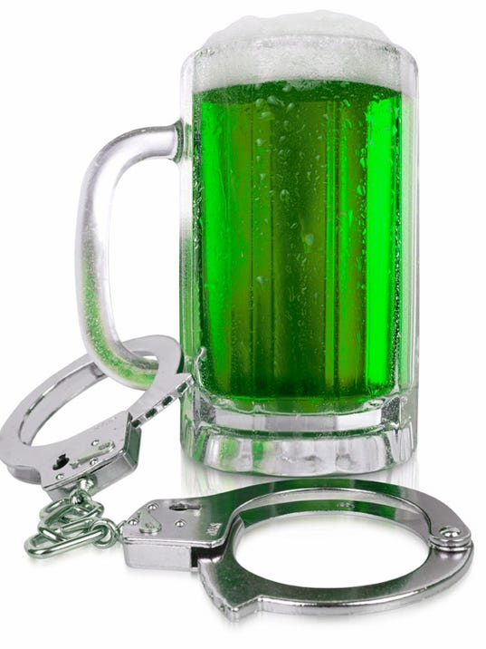 Beer and handcuffs