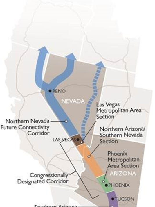 Highway 11 Arizona Map.Highway Bill Ok Ed Includes Reno Vegas Interstate Extension