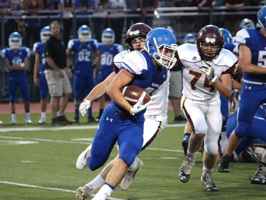 Clear Creek Amana vs. Mount Pleasant football on Friday,