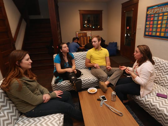Students from Hillel, Drake University's Jewish student