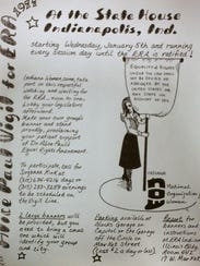 A flier concerning the movement to get the Equal Rights