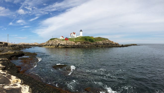 A view of the Atlantic Ocean along the coast of York, Maine.