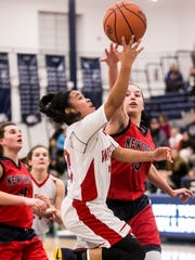 Susquehannock's Jayla Galbreath (23), goes up for a