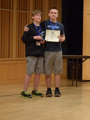 Alexander and Nicholas Kmosko of Flemington won the RoboCupJr Championship.